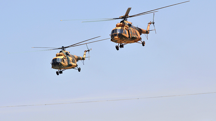 Afghan National Army (ANA) Russian made helicopters (AFP Photo / Massoud Hossaini)