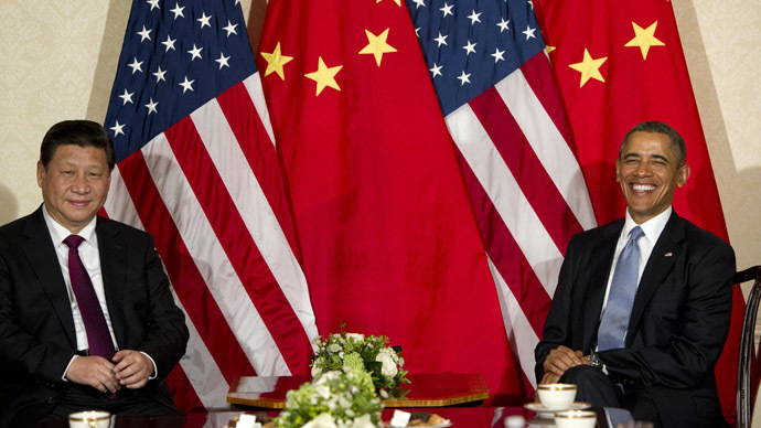 US President Barack Obama and Chinese President Xi Jinping (AFP Photo)