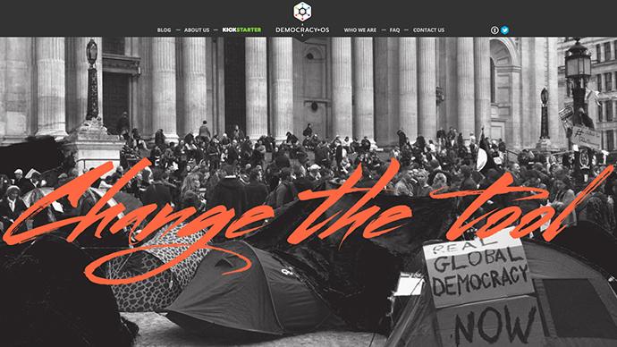 Screenshot from democracyos.org