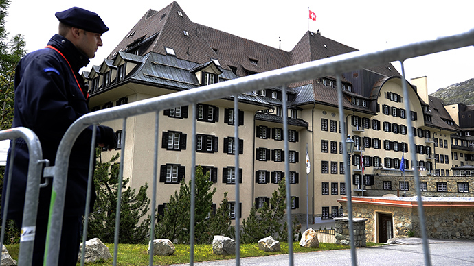 The Suvretta House five-star hotel in the chic Swiss ski station of St Moritz, where the Bilderberg Group is holding its annual meeting (AFP Photo)