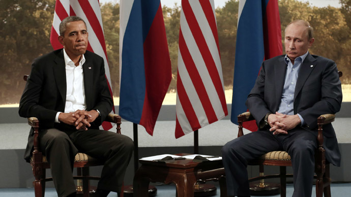 U.S. President Barack Obama and Russian President Vladimir Putin (Reuters/Kevin Lamarque)