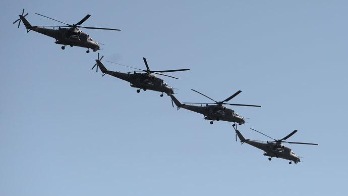 Mi-35 helicopters (RIA Novosti/Alexander Vilf)