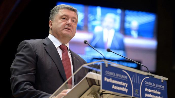 Ukraine President Petro Poroshenko.(AFP Photo / Patrick Hertzog)