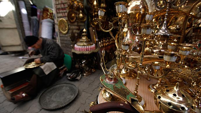 Baghdad's al-Safafeer Souq bazaar (Reuters / Mohammed Ameen)