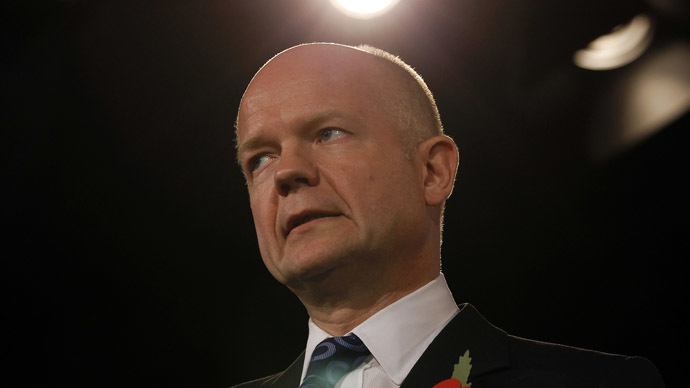 Former Britain's Foreign Minister William Hague (Reuters/Suzanne Plunkett)