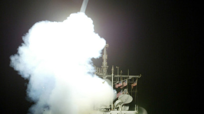 A Tomahawk cruise missile is launched from the MK-41 vertical launching system (Reuters)