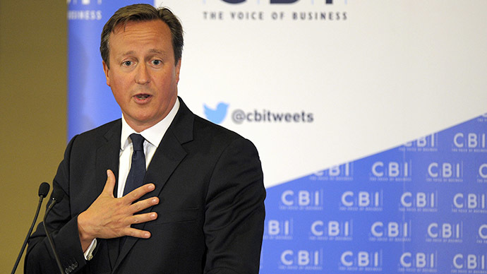 Britain's Prime Minister David Cameron (AFP Photo / Andy Buchanan)