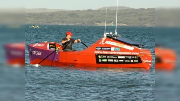 Shaun Quincey, cerca de establecer un nuevo récord en el mar de Tasmania