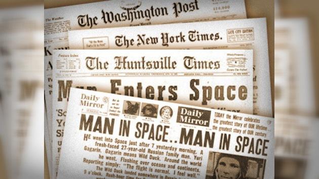 El 12 de abril de 1961 en la prensa estadounidense
