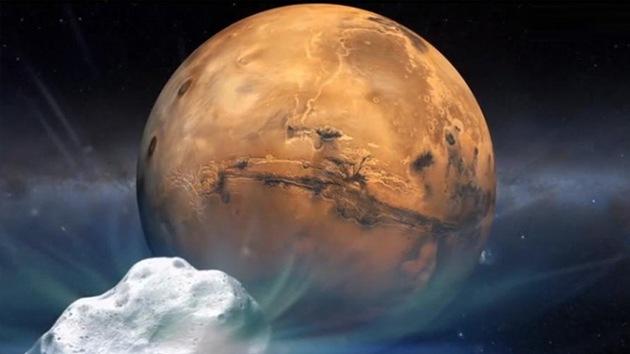 Video: El cometa Siding Spring se acerca a Marte a una distancia récord