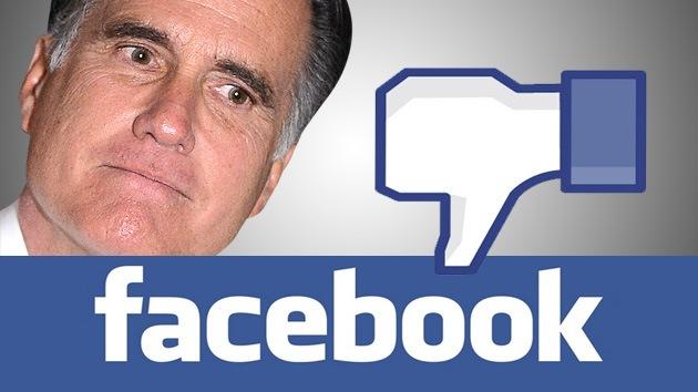 Romney pierde 850 amigos de Facebook por hora