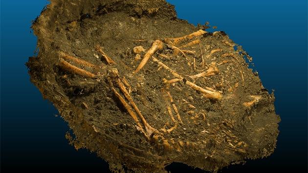 Hallan en Francia una fosa común con restos de hace 1.200 años