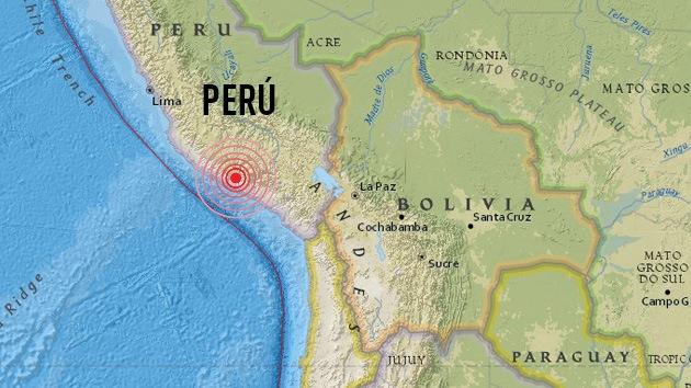 Sismo en Perú de magnitud 5,7