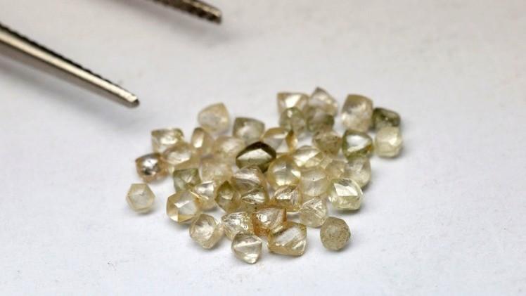 Descubren en Rusia una extraña piedra que contiene 30.000 diamantes