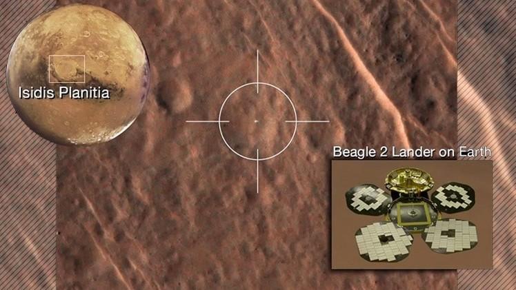 La sonda Beagle2 perdida hace 12 años, encontrada intacta en Marte