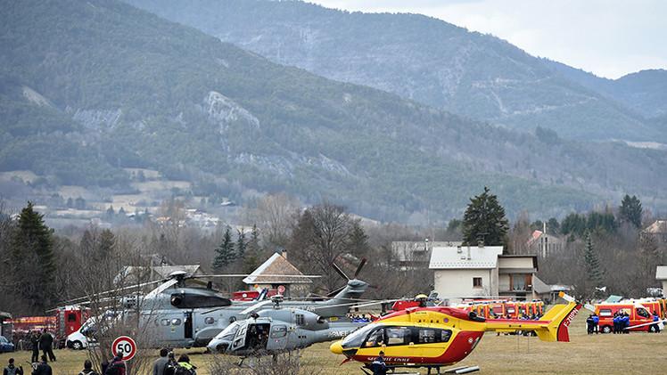 PRIMERAS IMÁGENES del lugar del siniestro del avión de Germanwings estrellado en Francia