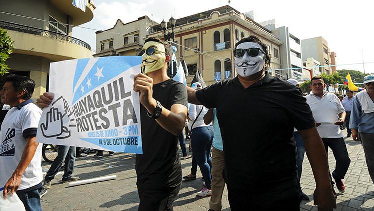 Ofrecieron 30 dólares por asistir a marcha contra Rafael Correa en Guayaquil