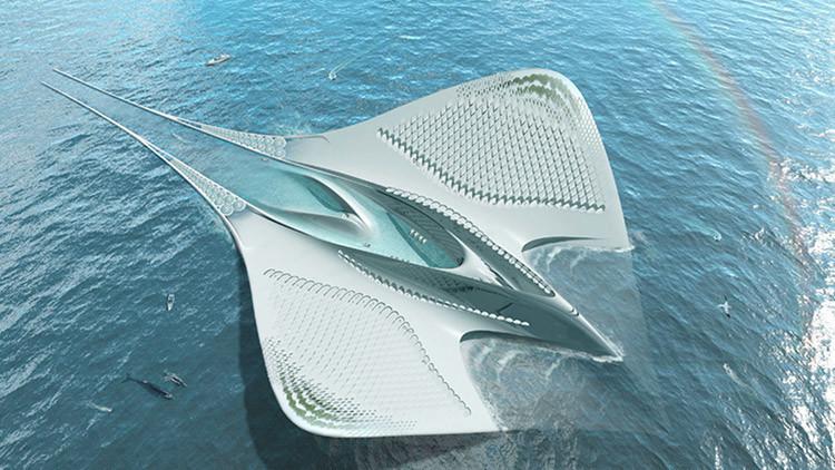 Una ciudad flotante con forma de raya gigante será el hogar de 7.000 personas