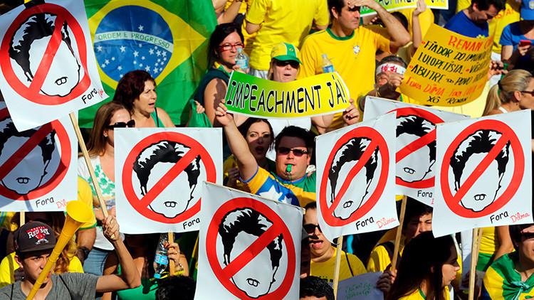 Masivas protestas piden la destitución de Dilma Rouseff en las calles de Brasil