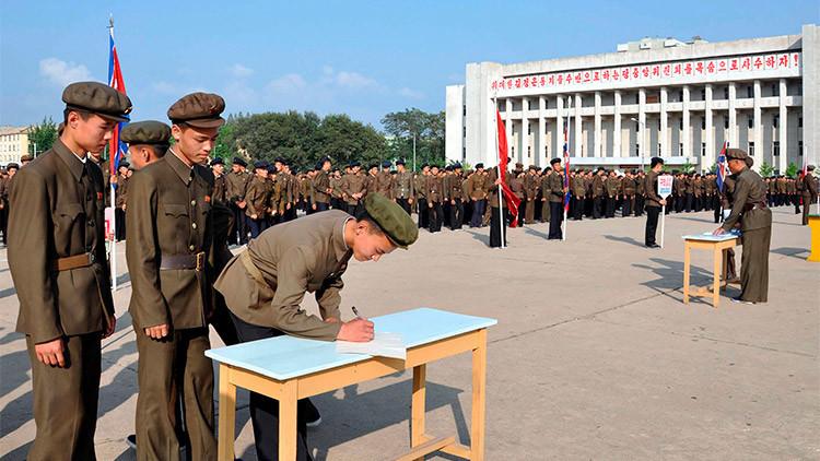 """Un millón de norcoreanos, listos para una """"guerra sagrada contra los enemigos"""""""