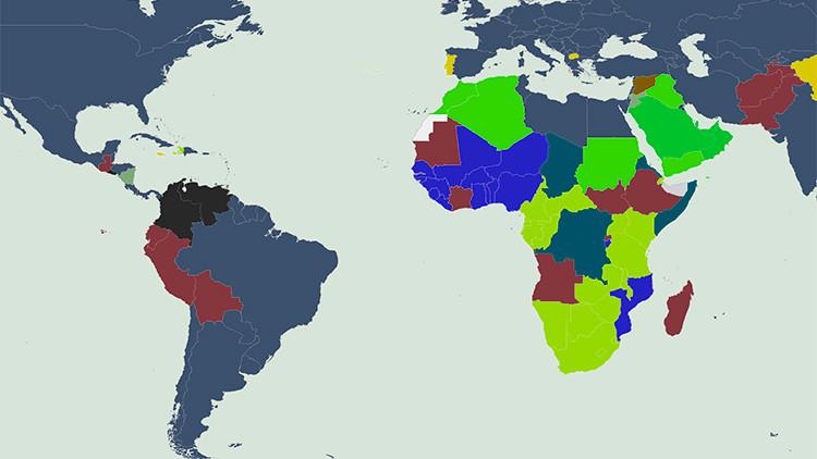 Mapamundi:  ¿Cuál es la principal causa de muerte prematura en tu país?
