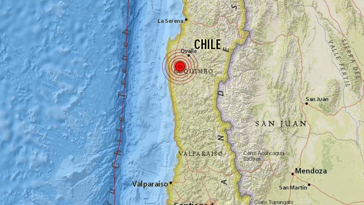 Un sismo de magnitud 6,2 sacude la zona central de Chile