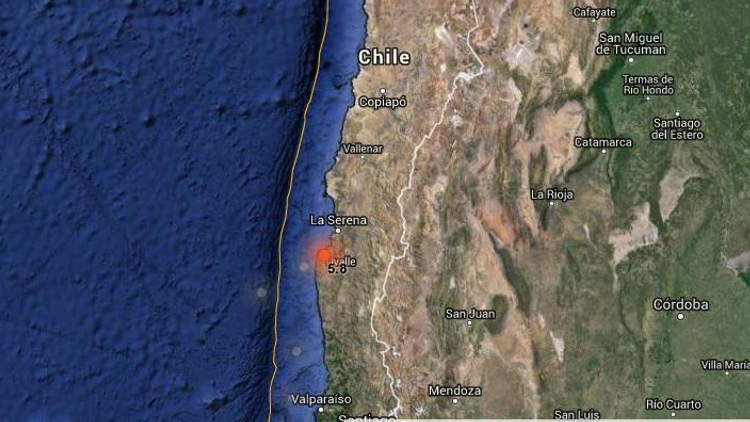 Un sismo de magnitud 5,8 sacude la zona central de Chile