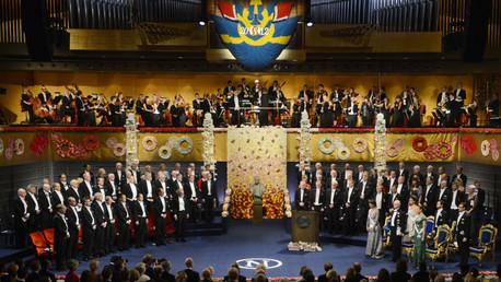 La ceremonia del Premio Nobel de 10 de diciembre de 2012 en Estocolmo.