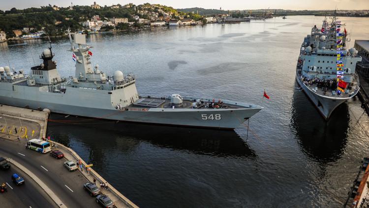 Un destacamento naval de la Armada china atraca en Cuba