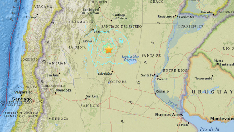 Sismo de magnitud 5,8 se registra en Argentina (video)
