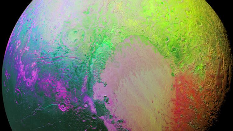La NASA se pasa a la psicodelia en su última imagen de Plutón