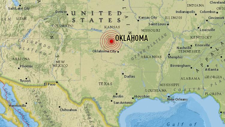 EE.UU.: Un sismo de 4,7 sacude Oklahoma