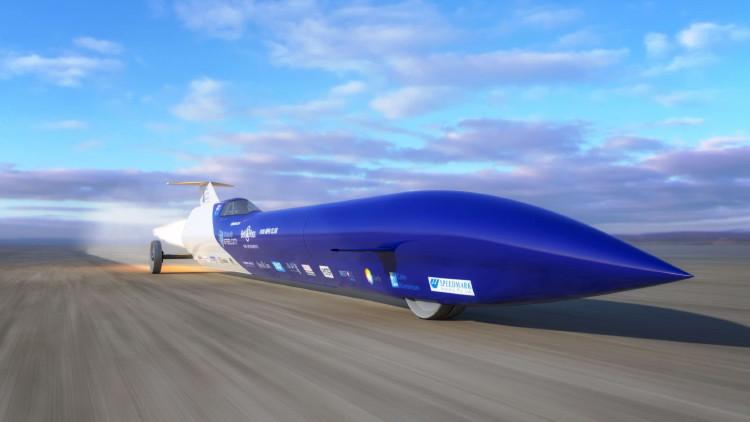 ¿Más rápido que una bala?: Coche a propulsión intentará romper el récord de velocidad en superficie