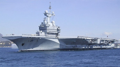 El portaaviones francés Charles de Gaulle
