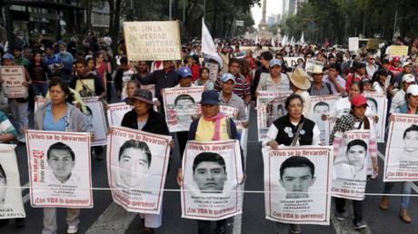 Una manifestación en el Distrito Federal de México / 26 de noviembre de 2015