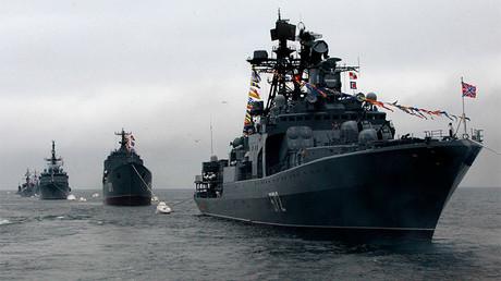 Buques de la flota rusa del Pacífico durante la celebración del día de la Armada en Vladivostok.