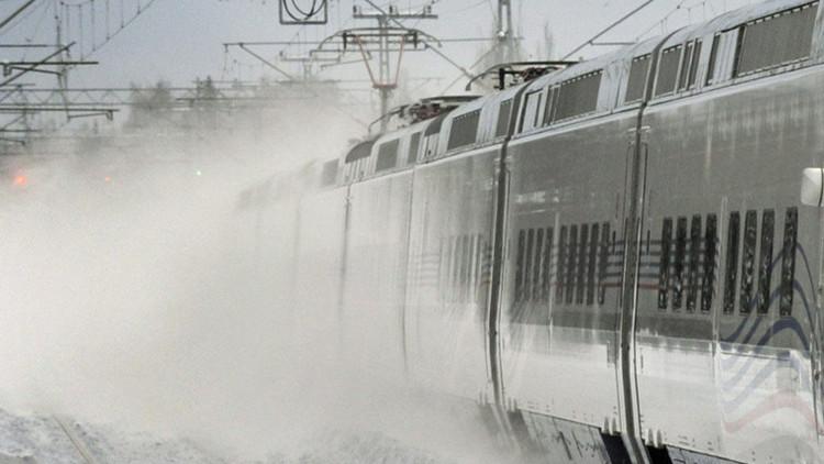 Ucrania: Un tren de alta velocidad se 'congela' debido a las bajas temperaturas