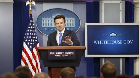 El secretario de prensa de la Presidencia de EE.UU. Josh Earnest