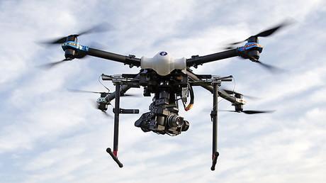 Un drone de la policía belga