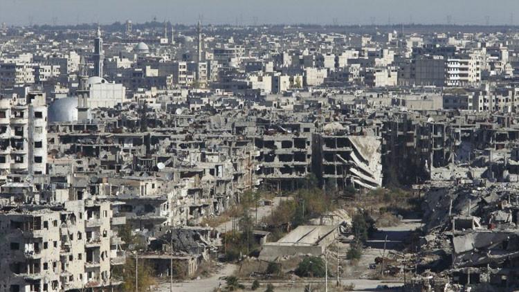 'Homs después de la guerra': Desgarradoras imágenes revelan la destrucción dejada por el EI (Video)