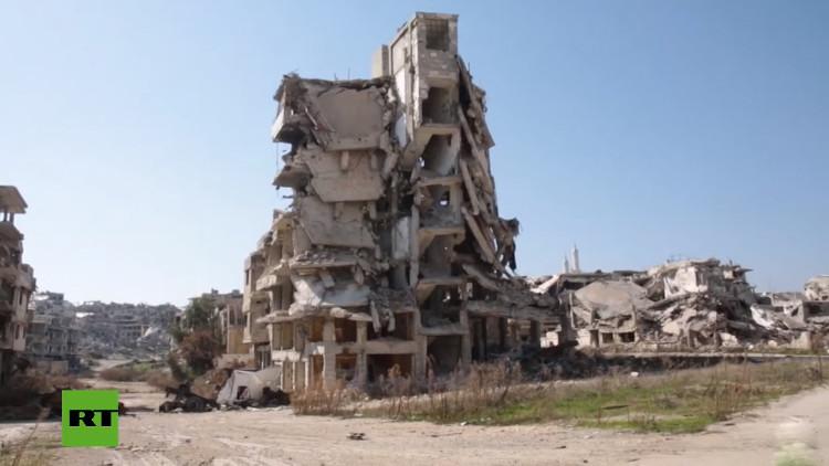 Video: Сómo la guerra convirtió a la ciudad siria de Homs en un pueblo fantasma