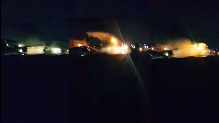 Video, fotos: Dos aviones chocan en el aeropuerto de la capital de Indonesia