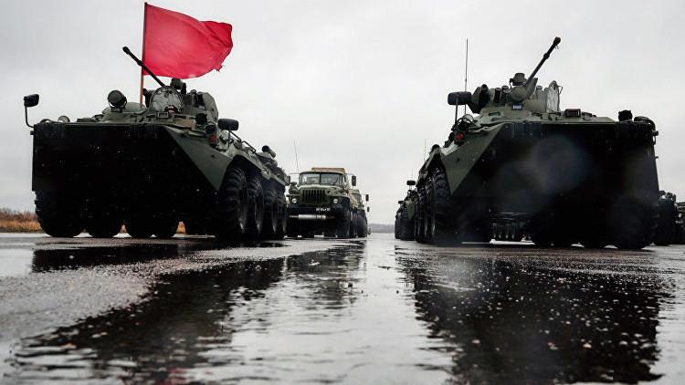 La Marina rusa en Crimea se refuerza con 40 blindados de infantería BTR-80A