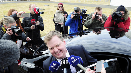 Sigmundur David Gunnlaugsson, el 5 de abril de 2016.