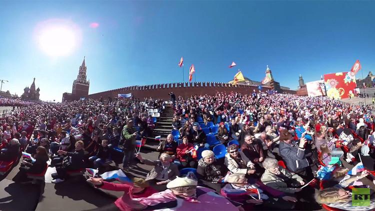 Video en 360°: Moscú festeja el 1 de mayo con una marcha en la Plaza Roja