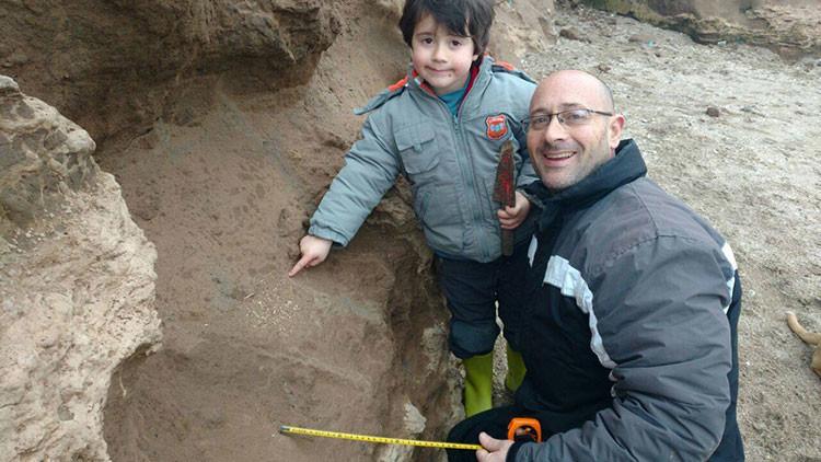 Argentina: Un niño halla restos fósiles de hace 500.000 años (Foto)