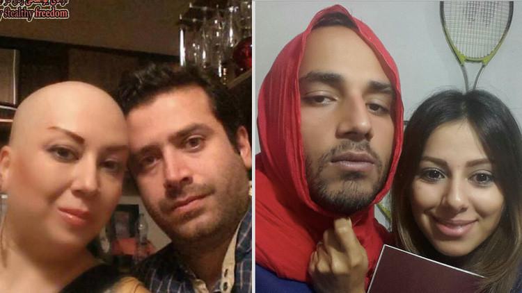 FOTOS: Así lucen los hombres iraníes que usan velo en solidaridad con las mujeres