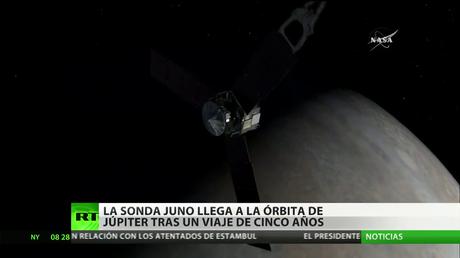 La sonda Juno llega a la órbita de Júpiter tras un viaje de cinco años