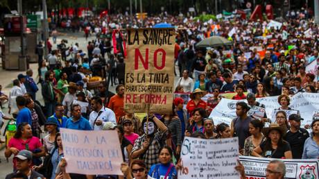 Protestas magisteriales en la Ciudad de México