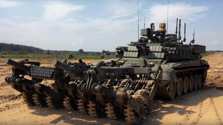 Video: Así es el nuevo vehículo desminador robotizado del Ejército ruso